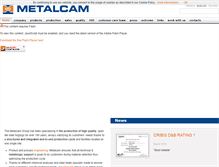 Tablet Preview of metalcam.it
